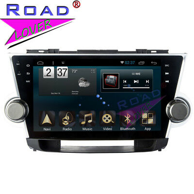Quad Core Android 6.0 Car Stereo Player For Toyota Highlander 2008-2014 GPS Navi