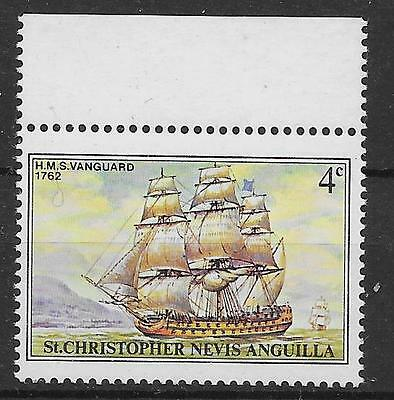 ST.KITTS SG42a 1980 SHIPS 4c WITH MISSING OVERPRINT MNH