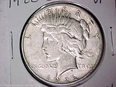 1922-D Peace Silver Dollar VF Denver Mint Dollar (51416)