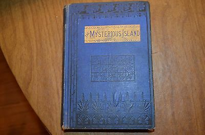 """VINTAGE~RARE BOOK ca. 1883 Edition """"The Mysterious Island"""" by Jules Verne"""