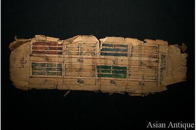 Mongolian Buddhist Manuscript  Drawing Painting  Mongolia #A3060