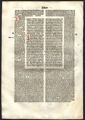 "Deuteronomy 3 1497 Old Testament Bible Leaf  ""Fighting The People of Bashan"""