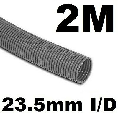 2m Waste Water Pipe 23.5mm ID Convoluted Grey Hose 2 Metre - Caravan Motorhome