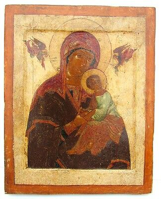 16th CENTURY ANTIQUE RUSSIAN ICON of MOTHER OF GOD