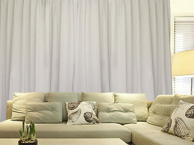 Blockout Curtains 534x230cm PINCH PLEAT Blackout High Level Fabric, Sandy Cream