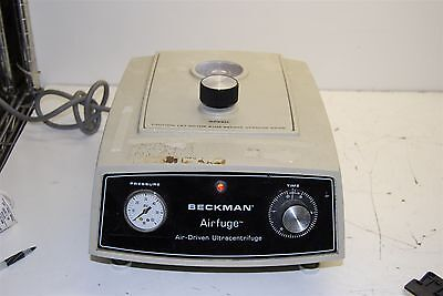 Beckman Airfuge Air-Driven Ultracentrifuge Centrifuge UNIT POWERS ON