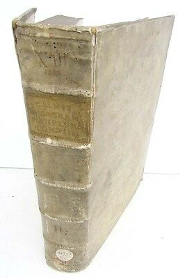 1738 ANTIQUE VELLUM FOLIO of NEW TESTAMENT BIBLE COMMENTARY in LATIN by A.CALMET