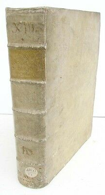 1732 ANTIQUE VELLUM FOLIO of NEW TESTAMENT BIBLE COMMENTARY in LATIN by A.CALMET