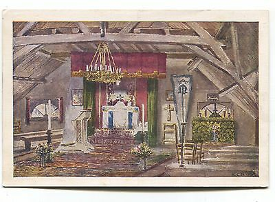 Poperinghe, Belgium - Upper Room of original Toc H - old modern-size postcard