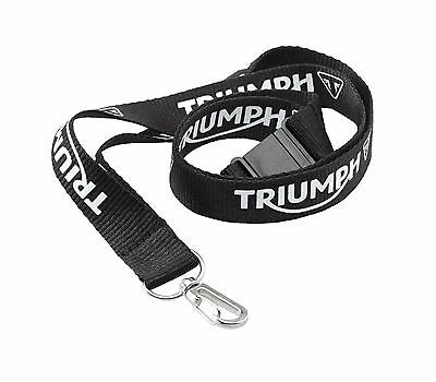 GENUINE Triumph Motorcycles Lanyard Black BRAND NEW 2015