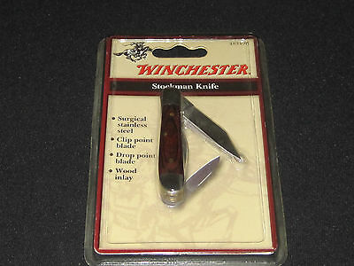 """NEW Winchester I blade 2 3/4 """" THE OTHER BLADE 1 5/8 """" stockman Knife #48349W"""