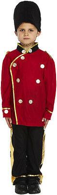 Childs Busby Guard Royal Soldier Uniform Fancy Dress Costume  Kids Age 4-6 Years
