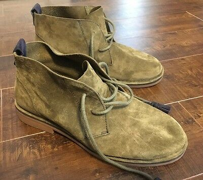 5887c6fc42f HUSH PUPPIES CYRA Catelyn Chukka Boots in Green Suede size