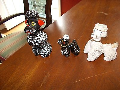 3 Vintage 2 Black Mother And Child 1 Japan Spaghetti Pink Figurines
