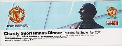Manchester United Denis Irwin.dinner Invite Card  2004 Plus  Two 6X4 Photos