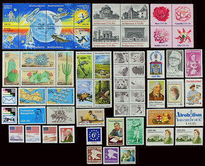 US 1981 Commemorative Year Set collection of 62 stamps Mint NH