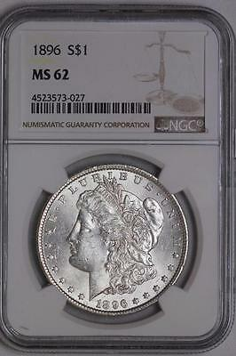 1896 P Morgan Silver Dollar MS62 NGC United States Mint Coin