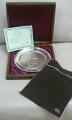 Vintage Danbury Mint Sterling Silver Plate # 7347 Moses by MICHELANGELO