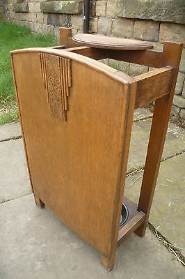 1930s Oak Stick/Umbrella Hall Stand