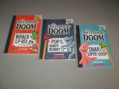 Lot of 3 The Notebook Of Doom books))* 5,6,10 / by Troy Cummings