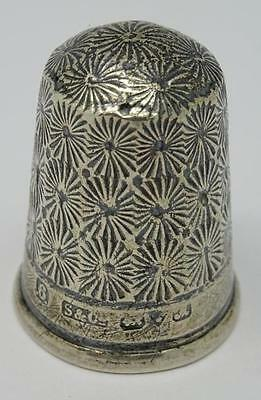 **antique English Hallmarked Sterling Silver Thimble Chester C1912**