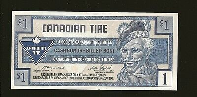 Canadian Tire Money 1996 Circulated $1.00 Note