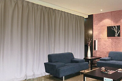 Large Linen Fabric Blockout Curtains 534x230cm PINCH PLEAT 2 panels +Tie Backs