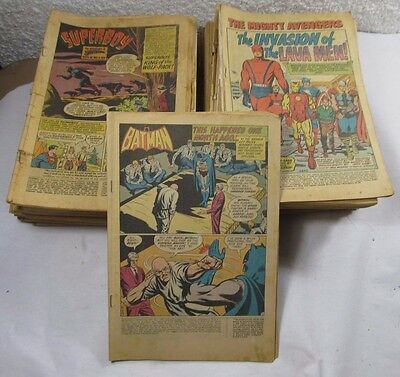 Group Lot Vintage Comic Books w/o Outer Covers 1960,s-1970,s - 7LBS. 8 OZ.