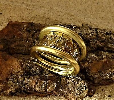 Ancient Viking  Bronze Twisted Ring (1154) .