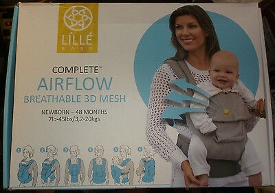 New Lille Baby Airflow Breathable 3D Mesh Baby Carrier Complete Black
