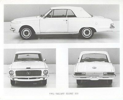 1963 Plymouth Valiant Signet 200 Factory Photo uc1953