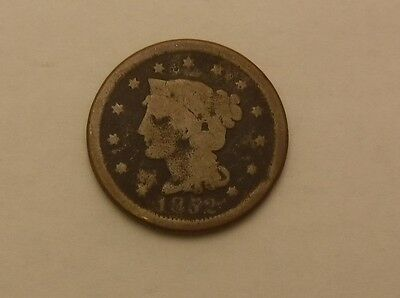 1852 copper LARGE CENT PENNY no reserve