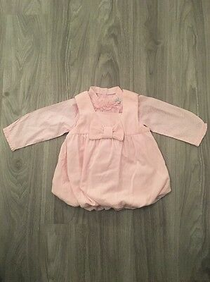 Baby Girls Pale Mayoral Pink Puffball Dress And Blouse - Age 6-9 Months