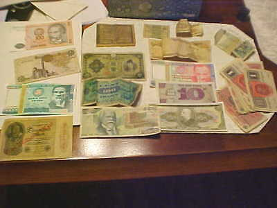 Lot Of Foreign Paper Money. Nice Assortment.
