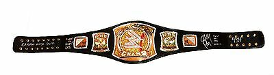 Wwe Cm Punk Hand Signed Autographed World Spinner Championship Belt With Coa