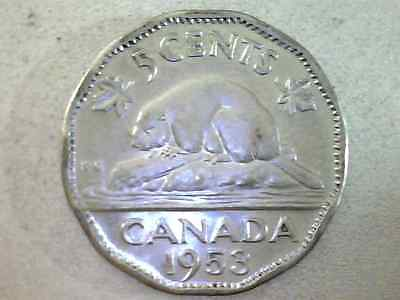 Canada 1953 Five Cent Au , Variety