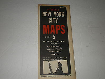 Vintage Nesters New York City  Maps/5 Lge. Scale Maps