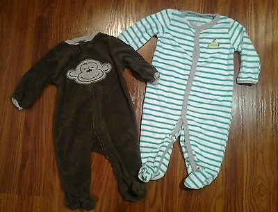 Baby Boys Carters Stretch Terry Sleepers  size 6 months