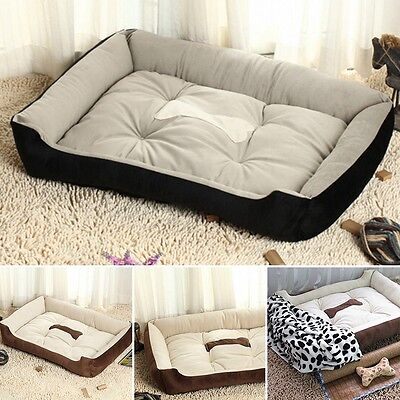 Large Pet Dog Cat Bed Puppy Cushion House Pet Soft Warm Kennel Dog Mat Blanket