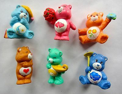 Vintage 1980's Mini PVC Care Bears Toy Figure - Grumpy Love A Lot Wish Bear