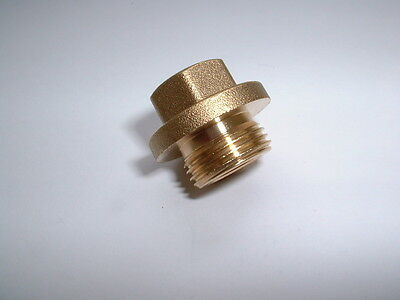 "Brass 3/8""bsp Flanged & Undercut Male End Blanking Stop Plug Cap 15Mm Hex Drive"