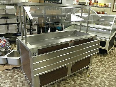 "Hussmann Elite 60"" Refrigerated Cold Food Salad Bar Buffet Table Free Shipping"