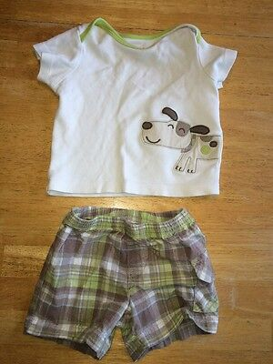 Baby Boy Carter's 6 Month T-shirt And Shorts Set
