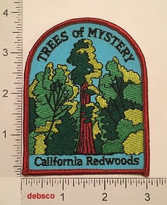 Vintage TREES OF MYSTERY California Redwoods Travel Souvenir PATCH