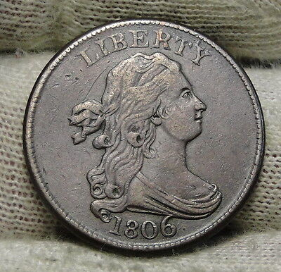 1806 Draped Bust Half Cent - Very Nice Coin, Free Shipping  (6110)