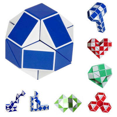 Children Kids Magic Snake Shape Toy Game 3D Cube Puzzle Twist Puzzle Toy Gift