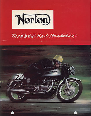 "1963 NORTON US Range Motorcycles Sales Brochure ""The Worlds Best Roadholders"""