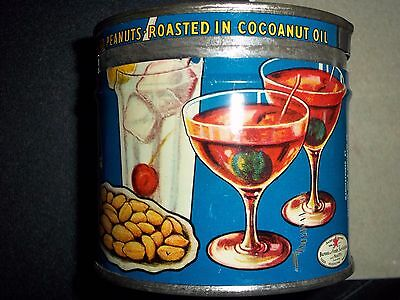Vintage Planters Blanched Peanut can RARE 'Cocoanut Oil' can