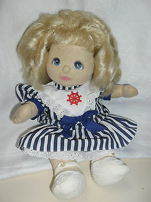 Platinum Blonde My Child Doll Mauve/blue Eyes, Pink Lips, Mauve/charcoal Shadow