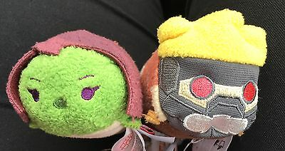 "NEW Disney Tsum Tsum Guardians Of The Galaxy - Star Lord Gamora Mini 3.5"" Plush"